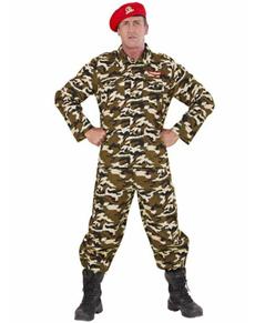 Déguisement soldat camouflage homme