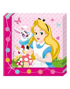 20 serviettes Alice au pays des merveilles