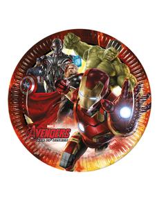 8 assiettes Avengers : L'ère d'Ultron 23 cm
